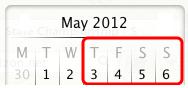 May 3-6, 2012